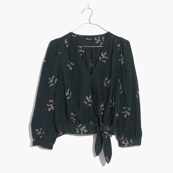 9b3a31d76c0e Madewell Tops - Madewell silk wrap top - wild botanic floral print